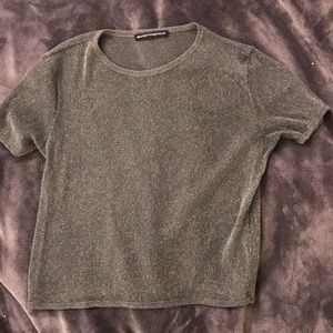 Sparkly mesh green top!